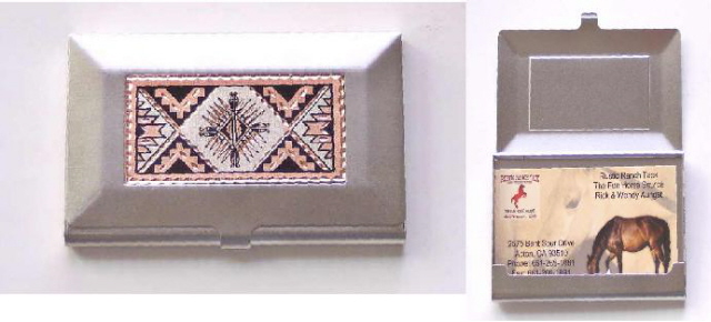 Southwest Business Credit Card Holder Nickel with Copper