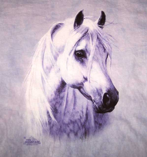 (Moon Shadow White Arabian Horse Head Shirt)