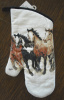 Quilted Oven Mitt Stepping Out Western Running Horses
