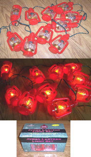Jumbo Indoor Outdoor Lantern Lights with Flickering Bulbs 10 Foot String