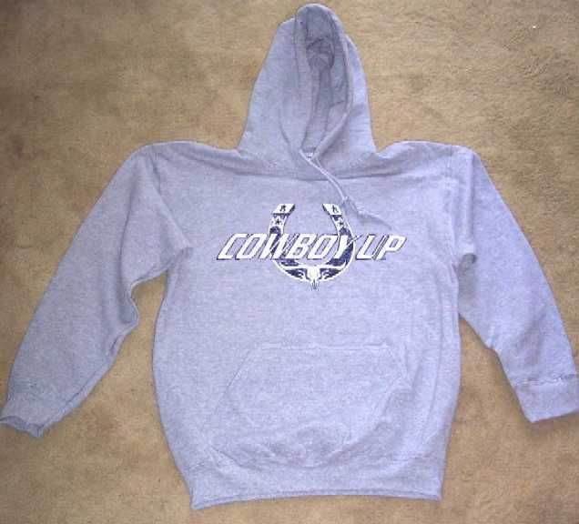 Cowboy Up Crackle Horseshoe Hooded Sweatshirt