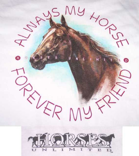 Always My Horse, Forever My Friend Shirt