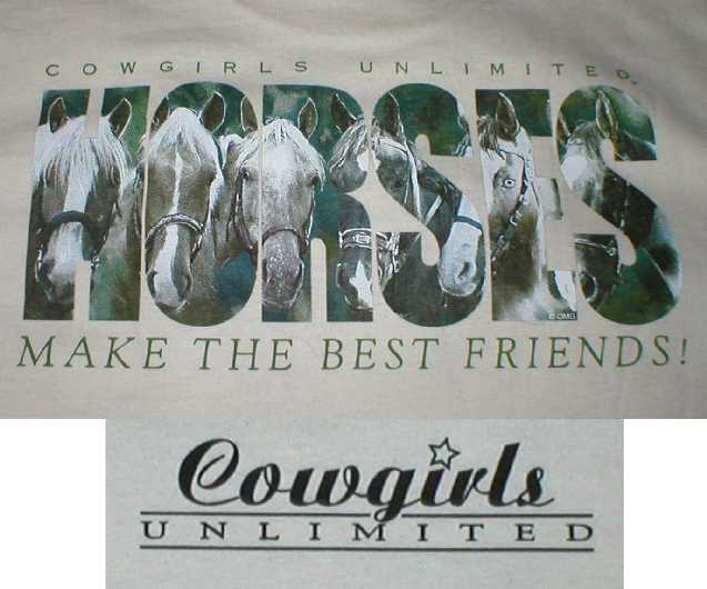 Horses Make the Best Friends Cowgirls Unlimited Shirt
