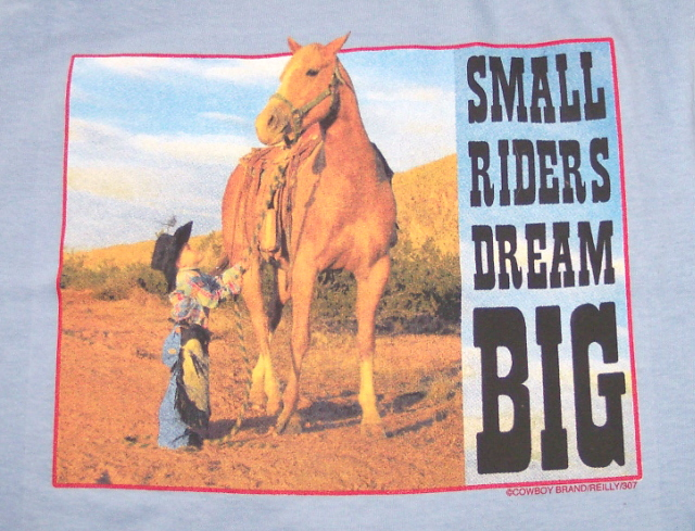 Small Riders Dream Big Youth Horse Shirt