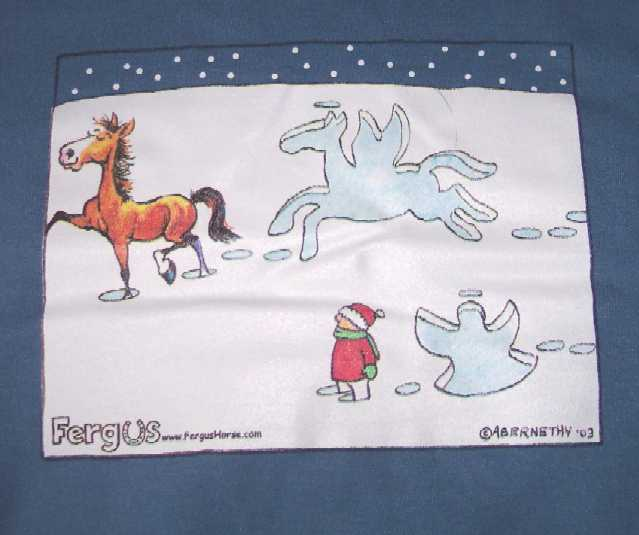 Fergus Horse Snow Angel Show Off Sweatshirt