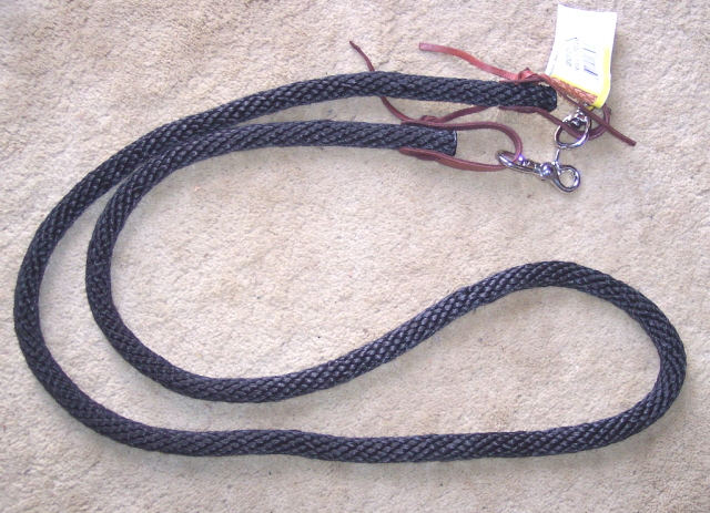 Nylon Roping Barrel Competition Reins Black