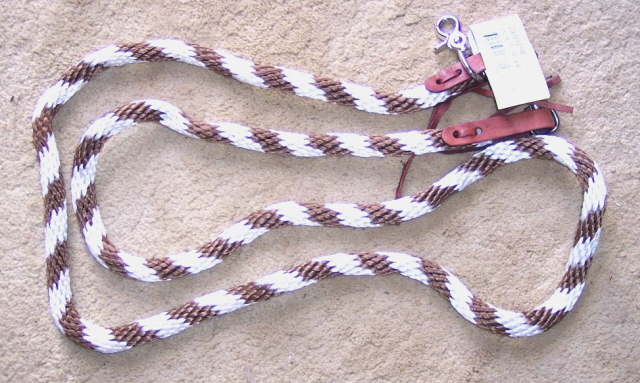 Nylon Roping Barrel Competition Reins Brown White