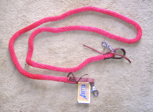 Nylon Roping Barrel Competition Reins Red