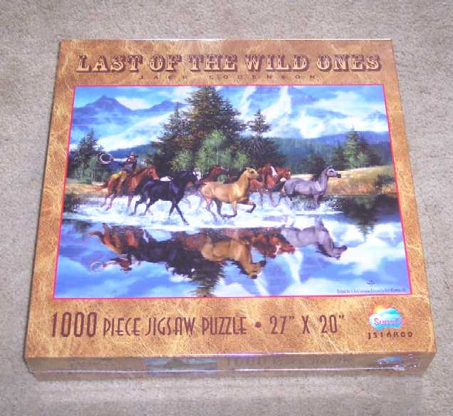Last of the Wild Ones Horse Jigsaw Puzzle 1000 Pieces