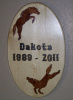 Custom Solid Pine Wood Burned Tribute Memorial Plaque - Stained and Clear Lacquer Finished