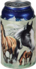 Multiple Horses Aluminum Insulated Can Cooler