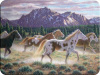 Horse Tempered Glass Cutting Board Horses in Mountains 12 x 16