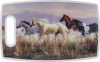 "Plastic Cutting Board Horses Band of Thunder 15"" x 9"""