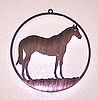 Window Wall Hanging Laser Cut Steel Standing Horse