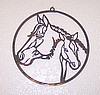 Window Wall Hanging Laser Cut Steel Mare and Foal