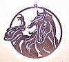Window Wall Hanging Laser Cut Steel Windy Horse