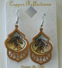 Copper and Silver Plated Twilight Horses Filligree Earrings