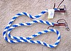 Nylon Roping Barrel Competition Reins Blue and White