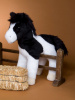Horse Plush Stuffed Toy Black White Paint Valiant 10""